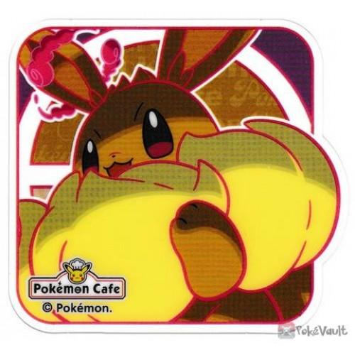 Pokemon Cafe 2020 Gigantamax Eevee Clear Plastic Coaster Prize Series #9