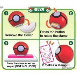 Pokemon 2020 Takara Tomy Poke Ball Ink Stamper #C Yamper