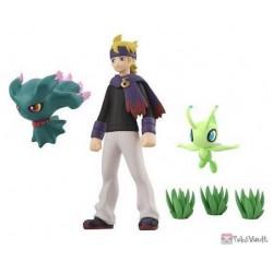 Pokemon 2020 Morty Celebi Misdreavus Bandai Pokemon Scale World Johto Region Figure Set