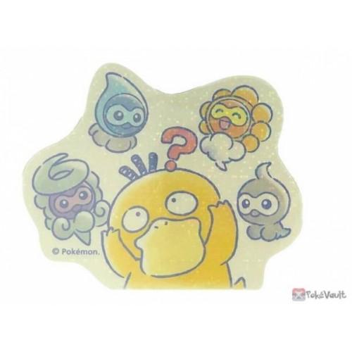 Pokemon Center 2020 Psyduck Castform Easy Going Large Sticker #2