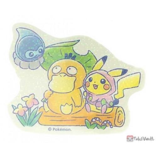Pokemon Center 2020 Psyduck Pikachu Easy Going Large Sticker #3