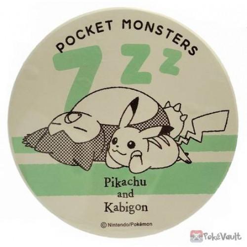 Pokemon Center 2020 Pikachu Snorlax Ceramic Water Absorbing Drink Coaster