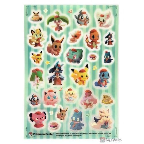Pokemon Center 2020 Pokemon Cafe Mix Lucario Sticker Sheet