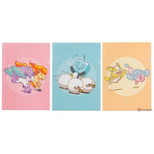 Pokemon Center 2020 Hello Ponyta Set Of 3 A4 Size Clear File Folders