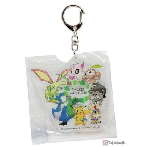 Pokemon 2020 Shiny Celebi Flygon Coco Movie Acrylic Plastic Keychain