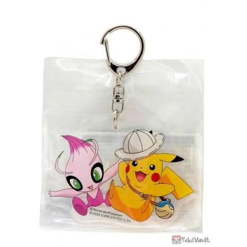 Pokemon 2020 Shiny Celebi Pikachu Koko Movie Acrylic Plastic Keychain