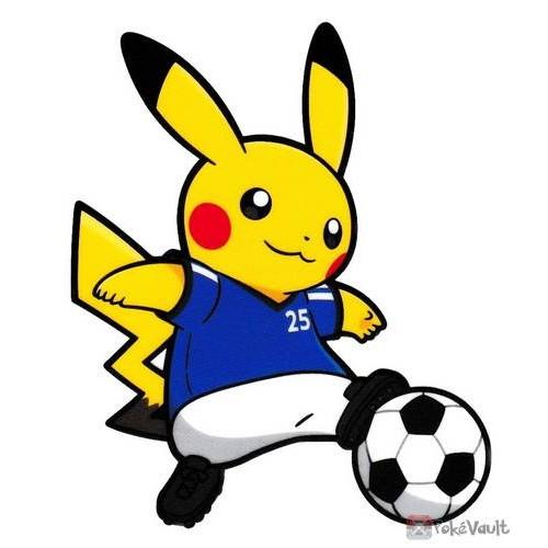 Pokemon Center 2020 Pikachu Soccer Pokemon Sports Large Sticker