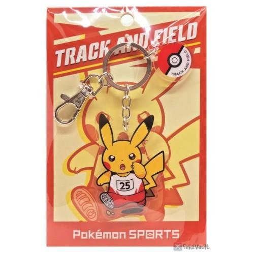 Pokemon Center 2020 Pikachu Track Pokemon Sports Keychain