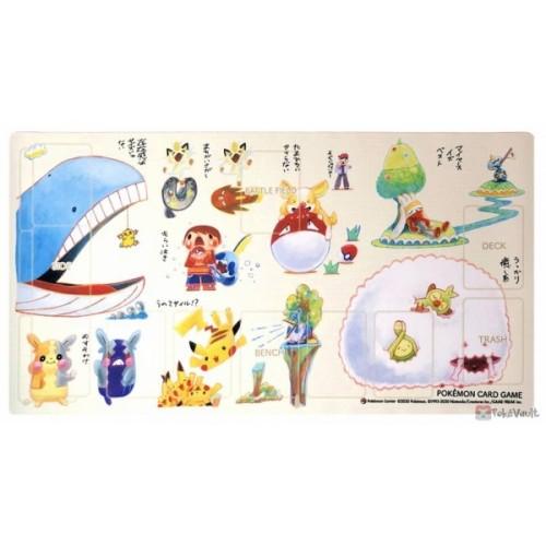 Pokemon Center 2020 Wailord Wooloo Janai Premium Half Rubber Playmat