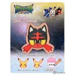 Pokemon 2016 Litten Embroidered Iron-On Name Patch (Medium Size)