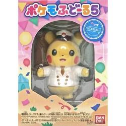 Pokemon 2020 Bandai Pokemofu Doll Vol. 5 Pikachu Captain Figure #1