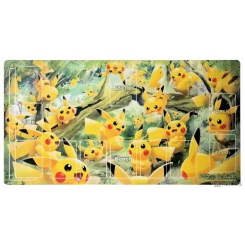 Pokemon Center 2020 Pikachu Forest Premium Half Rubber Playmat