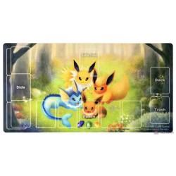 Pokemon Center 2020 Vaporeon Flareon Premium Half Rubber Playmat