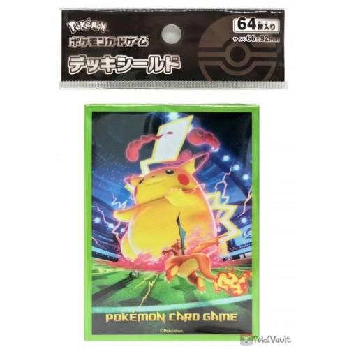 Pokemon Center 2020 Gigantamax Pikachu Set Of 64 Deck Sleeves