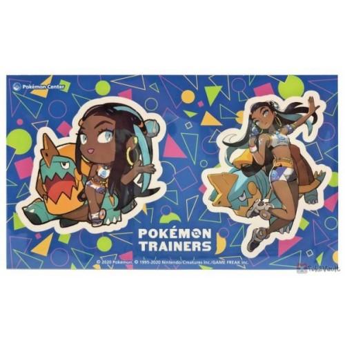 Pokemon Center 2020 Nessa Drednaw Pokemon Trainers #2 Set Of 2 Stickers