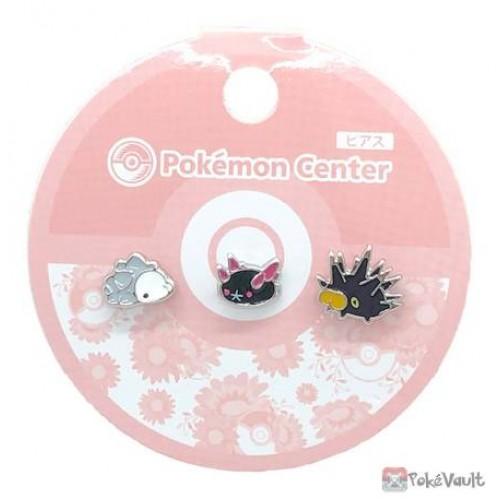 Pokemon Center 2020 Snom Pyukumuku Pincurchin Set Of 3 Earrings