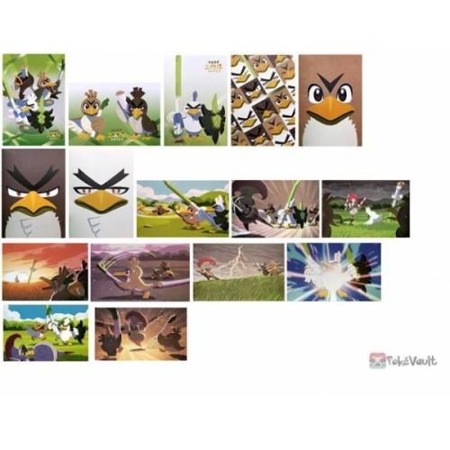 Pokemon Center 2020 Farfetch'd Tale 3 Leek Squad Set Of 16 Postcards