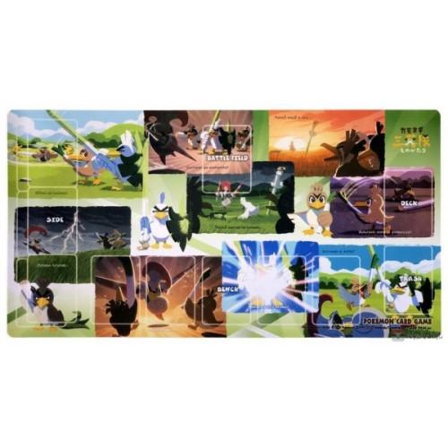 Pokemon Center 2020 Farfetch'd Tale 3 Leek Squad Premium Half Rubber Playmat