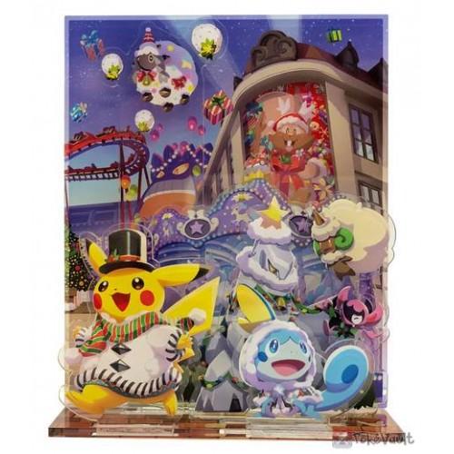 Pokemon Center 2020 Pikachu Christmas Wonderland Acrylic Plastic Stand #1