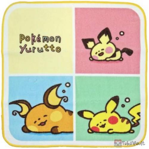 Pokemon Center 2020 Raichu Pikachu Pichu Yurutto #3 Hand Towel