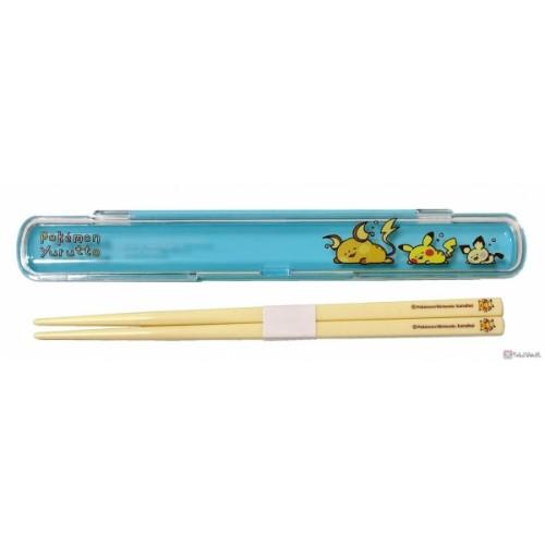 Pokemon Center 2020 Raichu Pikachu Pichu Yurutto #3 Bento Chopsticks With Case