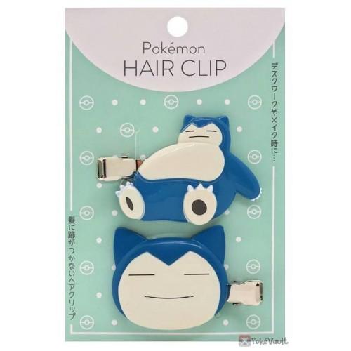 Pokemon Center 2020 Snorlax Set Of 2 Hair Clips