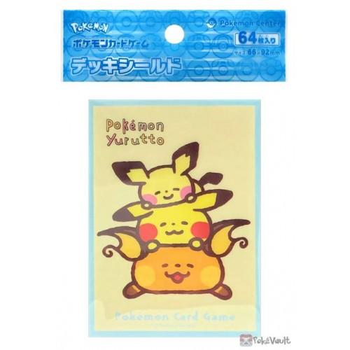 Pokemon Center 2021 Raichu Pikachu Pichu Yurutto Set Of 64 Deck Sleeves