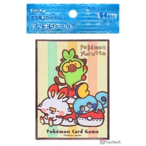 Pokemon Center 2021 Scorbunny Sobble Grookey Yurutto Set Of 64 Deck Sleeves