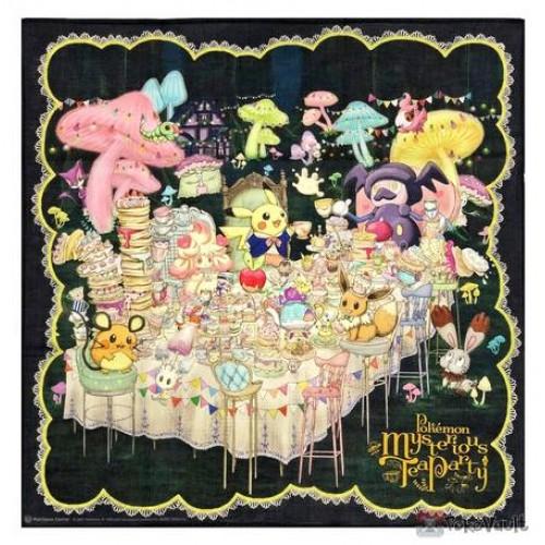 Pokemon Center 2021 Pikachu Alcremie Mysterious Tea Party Cloth Handkerchief
