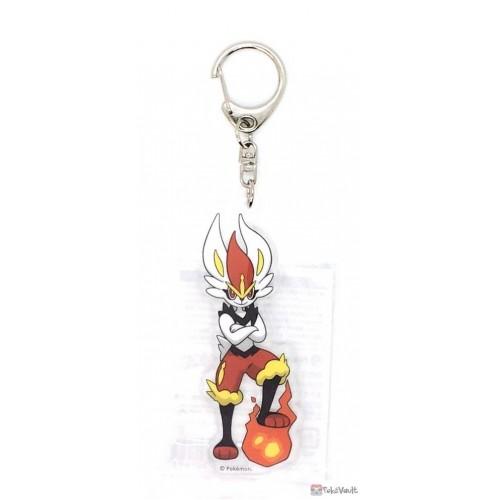 Pokemon Center 2021 Cinderace Acrylic Plastic Keychain