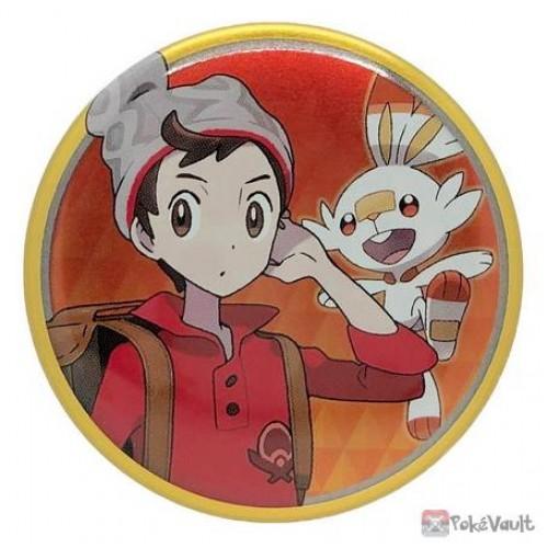 Pokemon Center 2020 Victor Scorbunny Galar Button Collection Large Size Metal Button