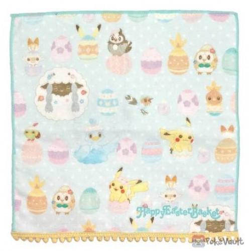 Pokemon Center 2021 Pikachu Wooloo Ducklett Easter Mini Hand Towel