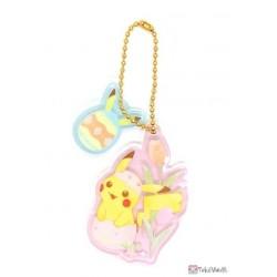 Pokemon Center 2021 Pikachu (Female) Easter Acrylic Keychain Charm With Egg #2