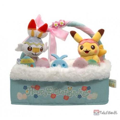 Pokemon Center 2021 Pikachu Scorbunny Easter Plush Tissue Box Cover
