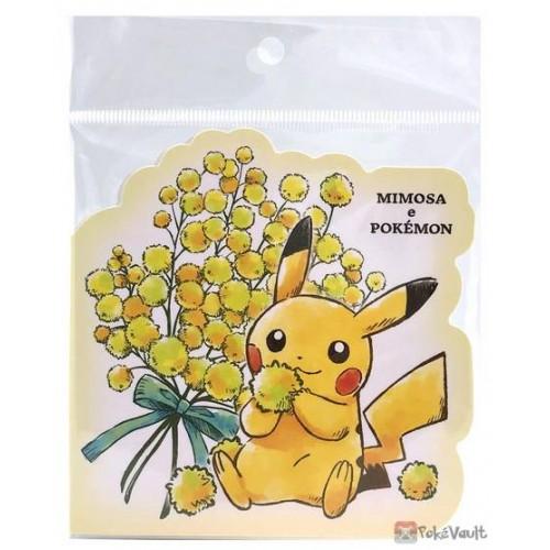 Pokemon Center 2021 Pikachu Mimosa e Pokemon Die Cut Memo Pad