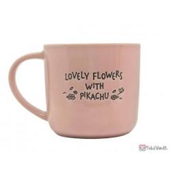 Pokemon Center 2021 Pikachu Shaymin Lovely Flowers Ceramic Mug (Pink)