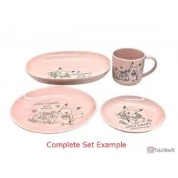 Pokemon Center 2021 Pikachu Comfey Lovely Flowers Ceramic Plate Small (Pink)
