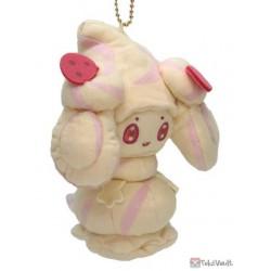 Pokemon Center 2021 Alcremie Mascot Plush Keychain (Vanilla Cream)