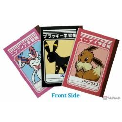 Pokemon 2021 Eevee Umbreon Sylveon Set Of 3 Mini Notebooks Ver. K