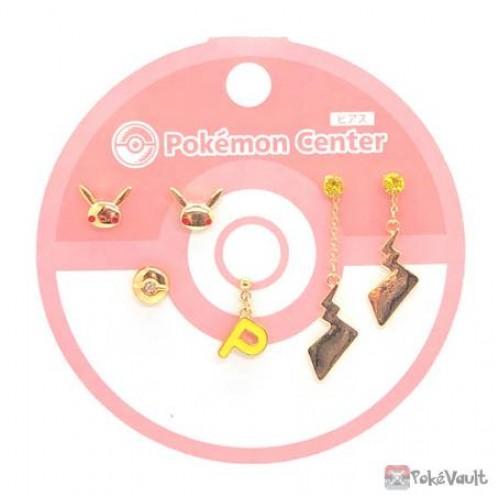 Pokemon Center 2021 Pikachu Set Of 6 Earrings