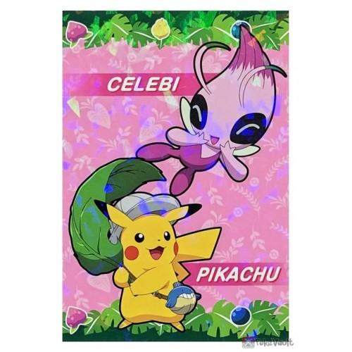 Pokemon 2020 Shiny Celebi Pikachu Coco Movie Series Large Bromide Prism Holo Promo Card #5