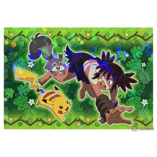 Pokemon 2020 Coco Skwovet Zarude Coco Movie Series Large Bromide Prism Holo Promo Card #15