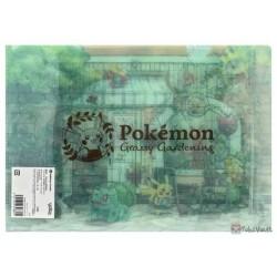 Pokemon Center 2021 Bulbasaur Snivy Grassy Gardening File Folder
