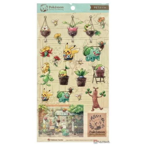 Pokemon Center 2021 Rowlet Bulbasaur Grassy Gardening Sticker Sheet