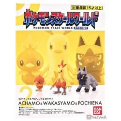 Pokemon 2021 Torchic Combusken Poochyena Bandai Pokemon Scale World Hoenn Region Figure