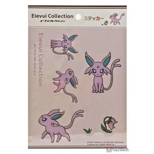 Pokemon Center 2021 Espeon Eevee Collection Sticker Sheet