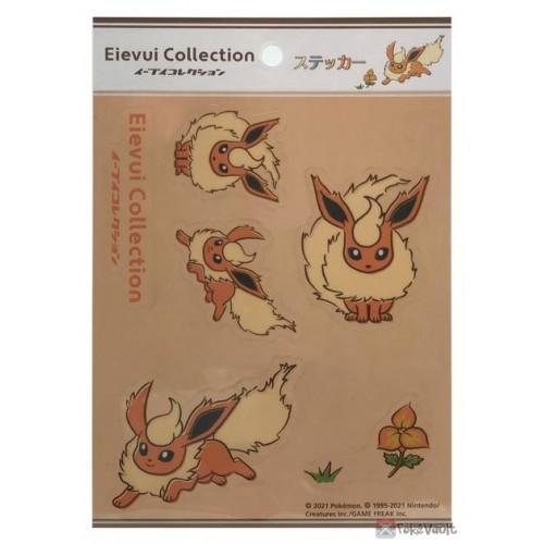 Pokemon Center 2021 Flareon Eevee Collection Sticker Sheet