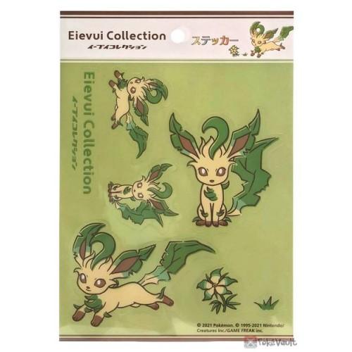 Pokemon Center 2021 Leafeon Eevee Collection Sticker Sheet