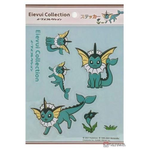 Pokemon Center 2021 Vaporeon Eevee Collection Sticker Sheet