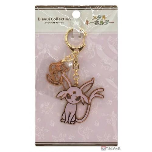 Pokemon Center 2021 Espeon Eevee Collection Metal Charm Keychain